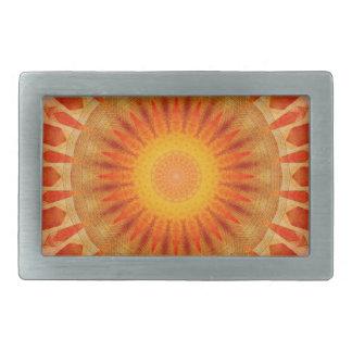 Mandala sunset belt buckle