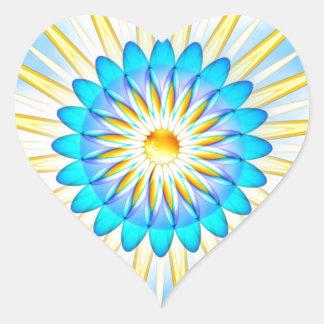 Mandala Sunshine Heart Sticker