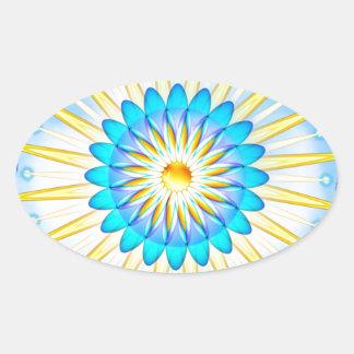 Mandala Sunshine Oval Sticker