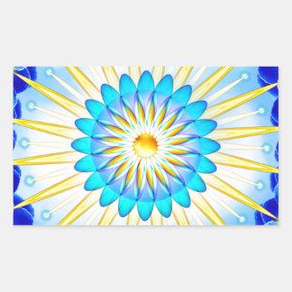 Mandala Sunshine Rectangular Sticker