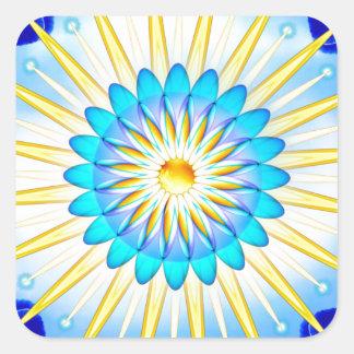 Mandala Sunshine Square Sticker