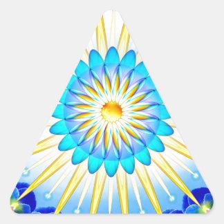 Mandala Sunshine Triangle Sticker