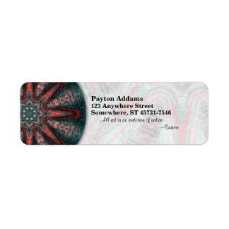 Mandala sutil de la pasión • Etiqueta de Avery Etiqueta De Remitente