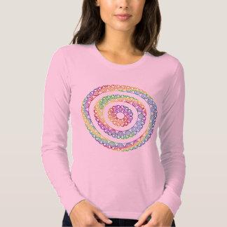 Mandala Swirled in Rainbow Colors Tshirt
