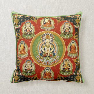 Mandala Tantric tibetana de Buda del Buddhism del Almohada