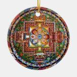Mandala Tantric tibetana del Buddhism del vintage Adorno Navideño Redondo De Cerámica