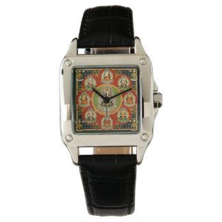 Mandala Tantric tibetana del Buddhism del vintage Relojes De Pulsera