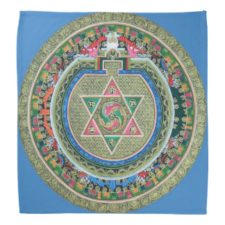Mandala Tantric tibetana del Buddhism del vintage Bandanas