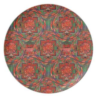 Mandala tibetana platos