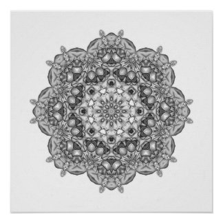 Mandala To Color In Poster