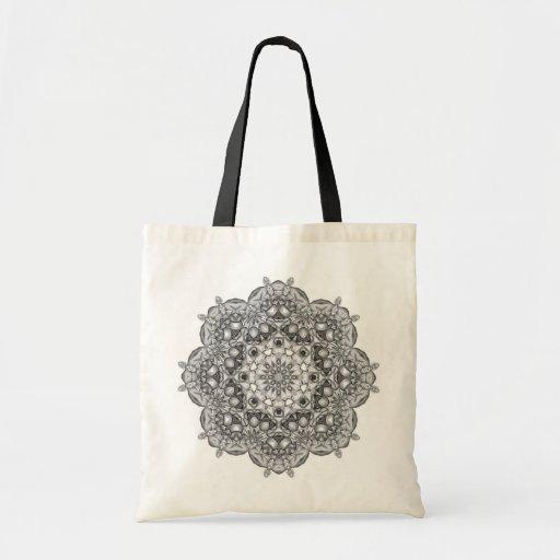 Mandala To Color In Tote Bags