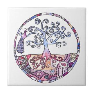 Mandala - Tree of Life in Paradise Tile