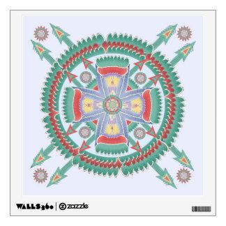 Mandala tribal del estilo de la turquesa y del mel