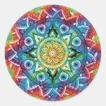 Mandala Trippy Pegatina Redonda