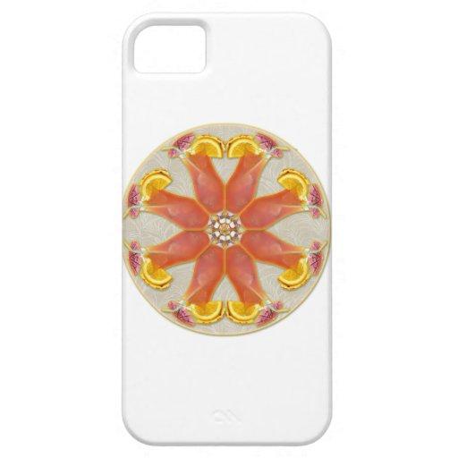 Mandala tropical de la bebida iPhone 5 carcasa