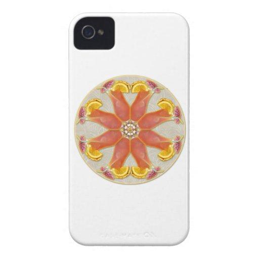 Mandala tropical de la bebida iPhone 4 protectores