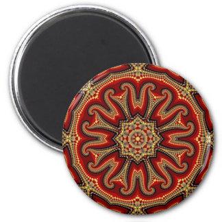 Mandala turca de la teja imán redondo 5 cm