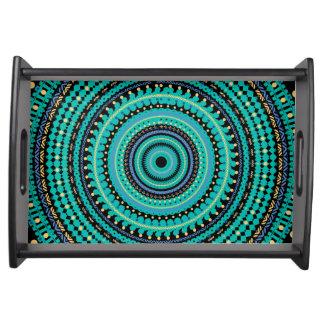 Mandala turquesa bandejas