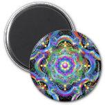 Mandala Universe Colors Fridge Magnets