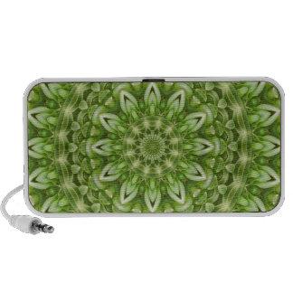 Mandala verde 1 de la anémona iPhone altavoces