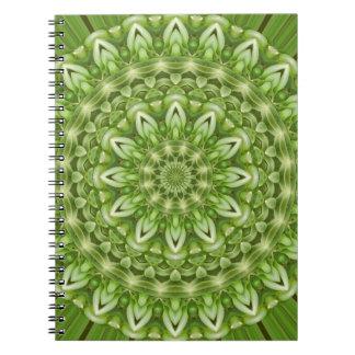 Mandala verde 1 de la anémona libreta