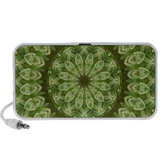 Mandala verde 2 de la anémona iPod altavoces