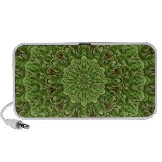 Mandala verde 3 de la anémona iPod altavoces