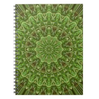 Mandala verde 3 de la anémona libros de apuntes