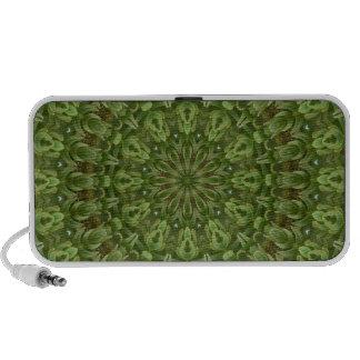 Mandala verde 4 de la anémona altavoz de viaje