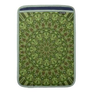 Mandala verde 4 de la anémona fundas macbook air