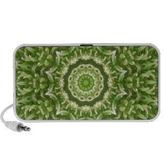 Mandala verde 5 de la anémona laptop altavoz