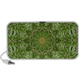 Mandala verde 6 de la anémona altavoces de viaje
