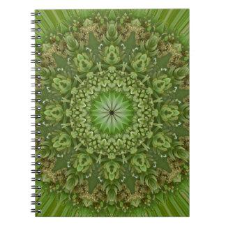 Mandala verde 7 de la anémona libretas