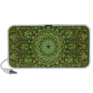 Mandala verde 7 de la anémona mini altavoz