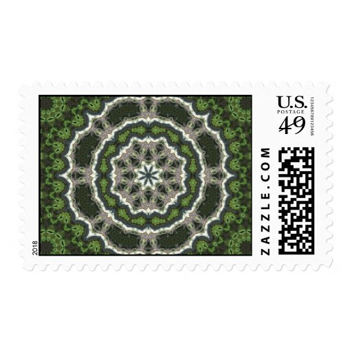Mandala verde de la foto del fractal