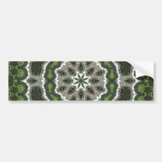 Mandala verde de la foto del fractal pegatina para auto