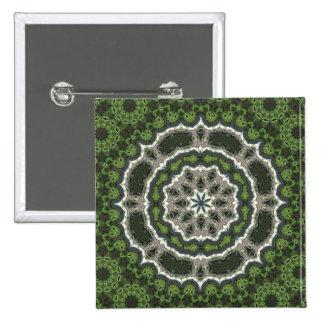 Mandala verde de la foto del fractal pins