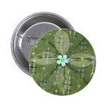 Mandala verde de la hoja - collage pins
