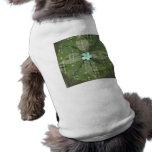 Mandala verde de la hoja - collage camiseta de perro
