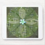 Mandala verde de la hoja - collage alfombrilla de ratones