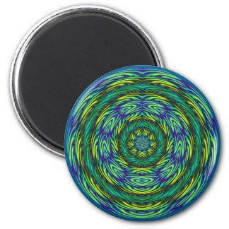 Mandala verde imán