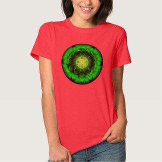 Mandala verde orgánica playera