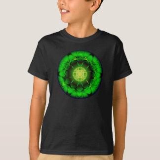Mandala verde orgánica polera