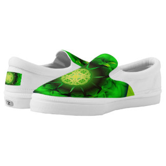 Mandala verde orgánica zapatillas