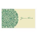 Mandala verde plantillas de tarjeta de negocio