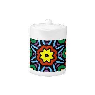 Mandala versión del color de la flor de 6 velas