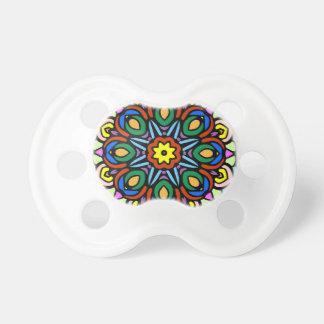 Mandala versión del color de la flor de 6 velas chupete