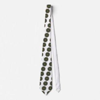 Mandala versión del color de la flor de 6 velas corbata personalizada