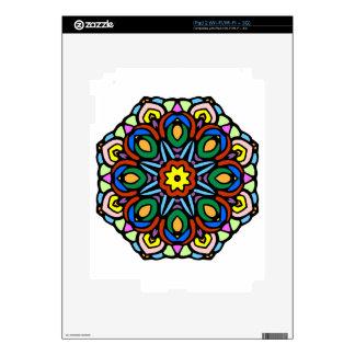 Mandala versión del color de la flor de 6 velas iPad 2 skins