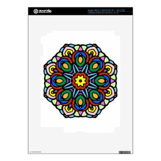 Mandala versión del color de la flor de 6 velas iPad 3 skins